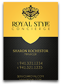 Royal Concierge Business Card Template