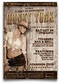 Honky Tonk Country Flyer Template