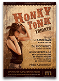 Honky Tonk Friday Country Flyer Template