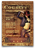 Country Music Night Flyer Template
