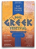 Greek Festival Flyer Template